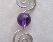 Spiral Into Amethyst Necklace