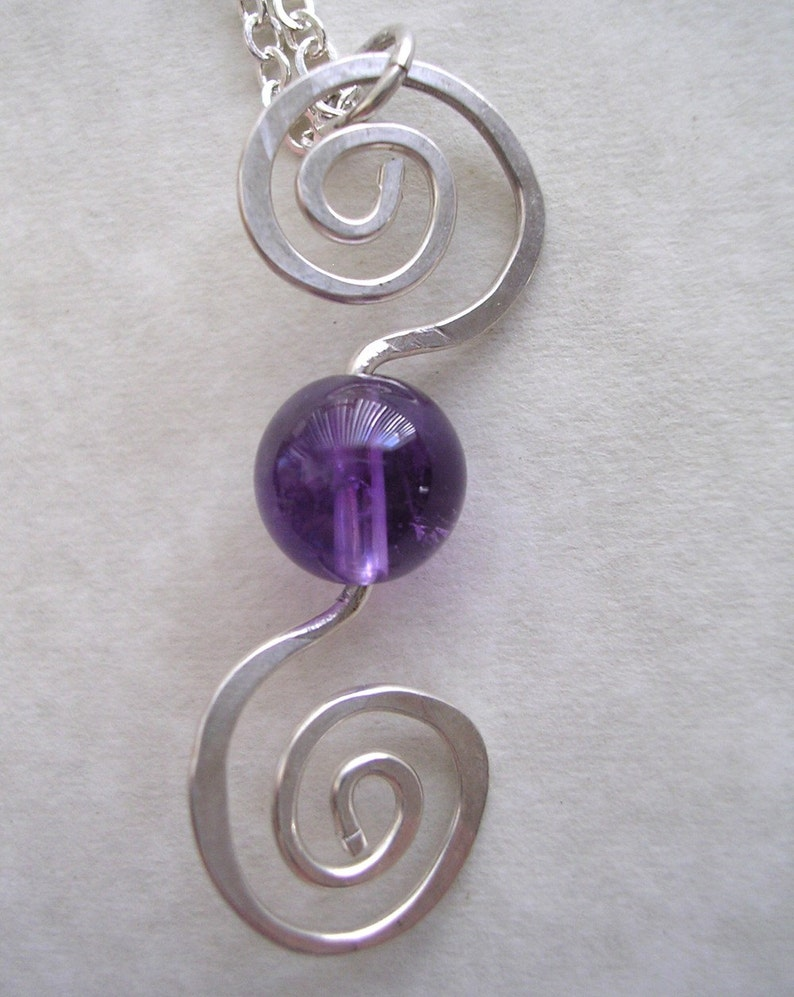 Spiral Into Amethyst Necklace image 0