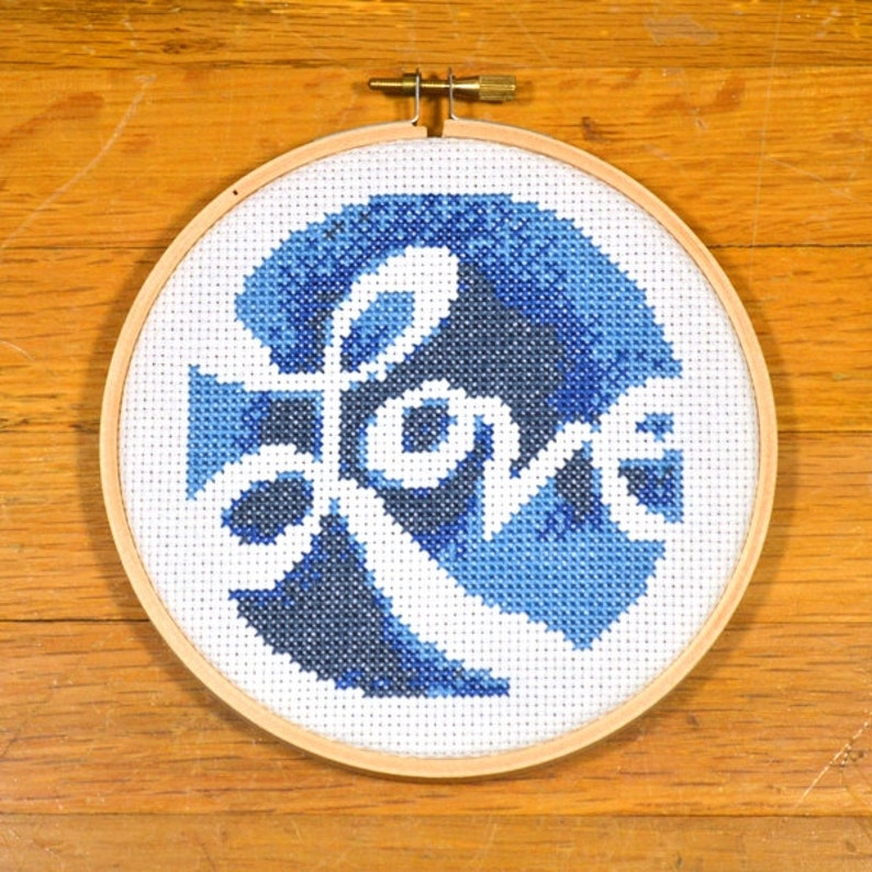 Love  easy cross stitch pattern PDF instant download image 0