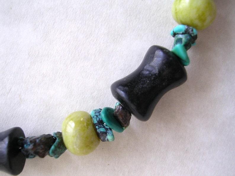 Blackstone/Serpentine/Turquoise Bracelet image 0