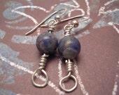 Sodalite Orb Earrings