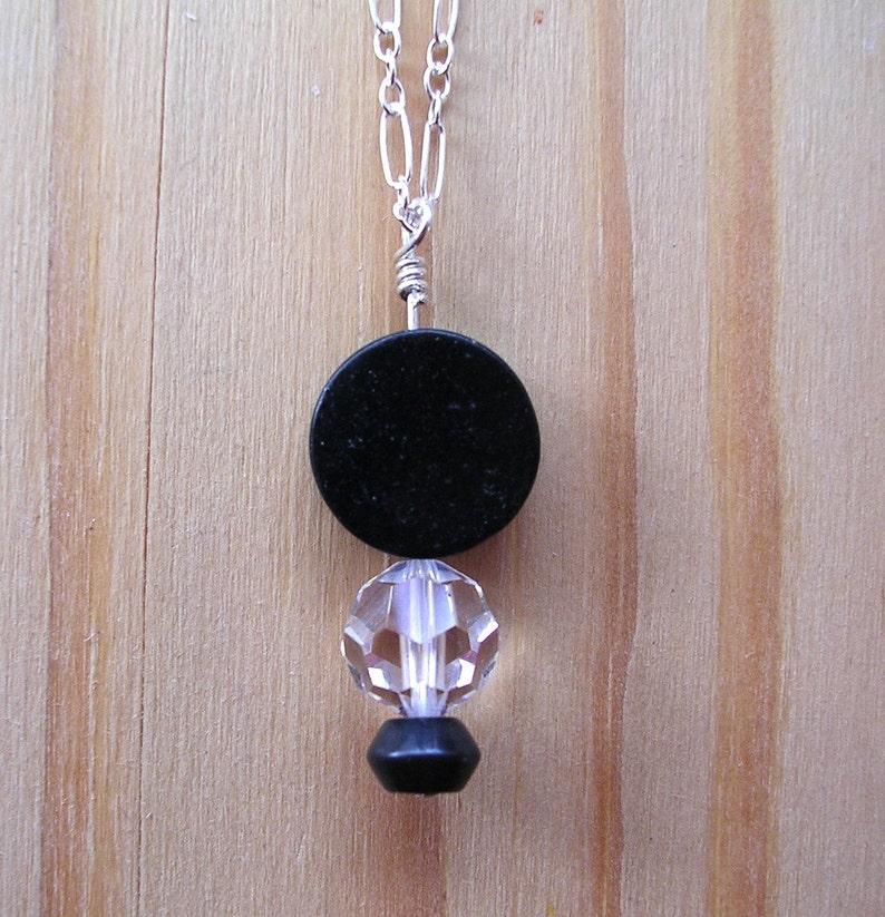 Blackstone Tuxedo Necklace image 0