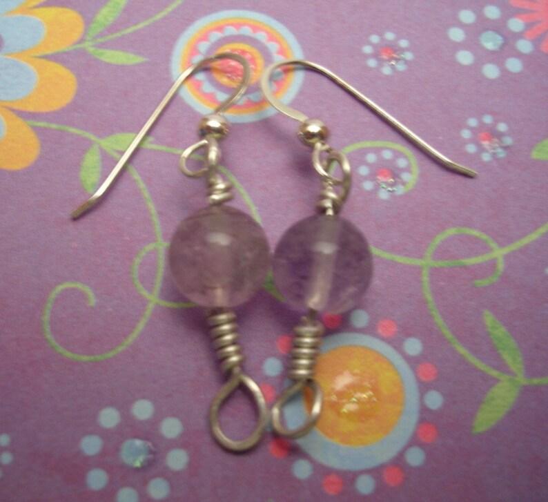 Fluorite Orb Earrings image 0