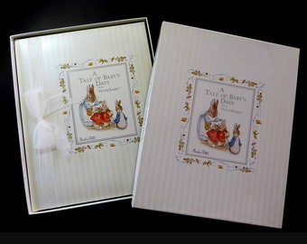 Gibson baby book etsy cr gibson a tale of babys days classic peter rabbit beatrix potter collection vintage 1980s baby keepsake album book usa made w gift box m4hsunfo