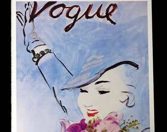 Art Deco-Vogue Poster//Art Print///'Flowers in Her Hair/'1935 cover 8.5x11 inch