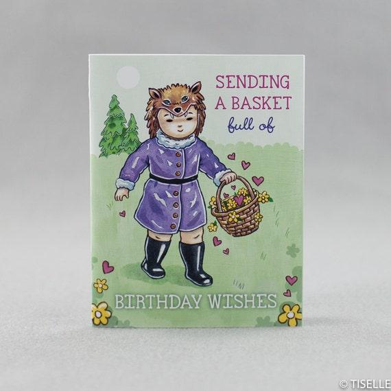 Offset Birthday Card, Zosia