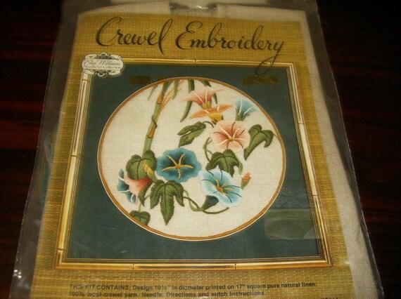 Elsa Williams Crewel Embroidery Kit Prelude Circle Kit 00119 Etsy