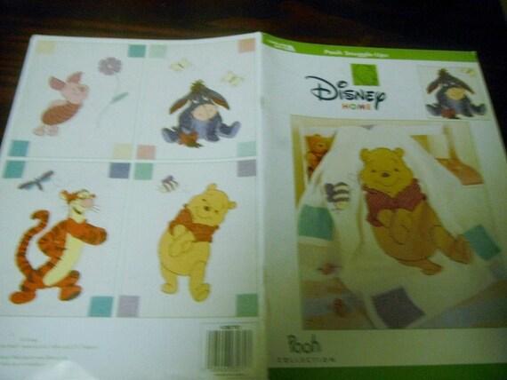 Disney crochet afghan pattern booklet Pooh Snuggle-ups; eeyore; tigger; piglet