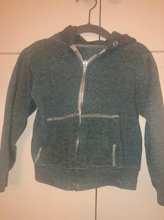 Vintage 80s kids zipper hoodie sweatshirt
