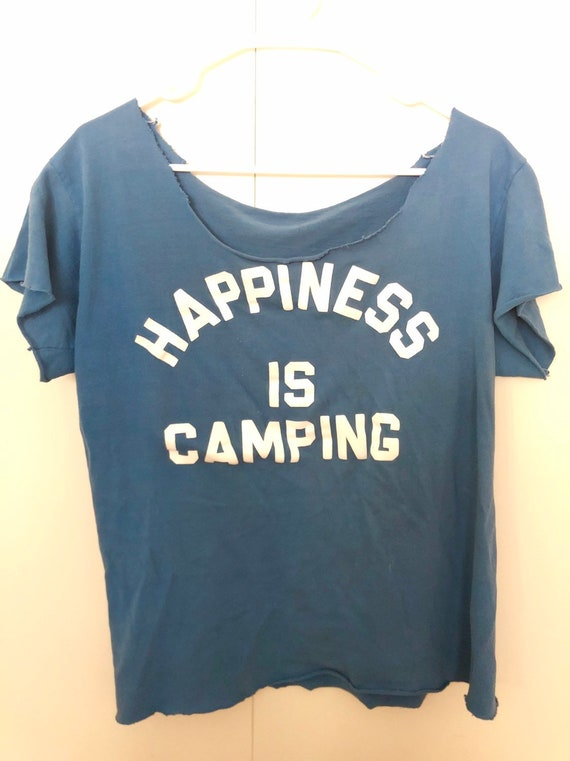 Vintage 70s camping tshirt