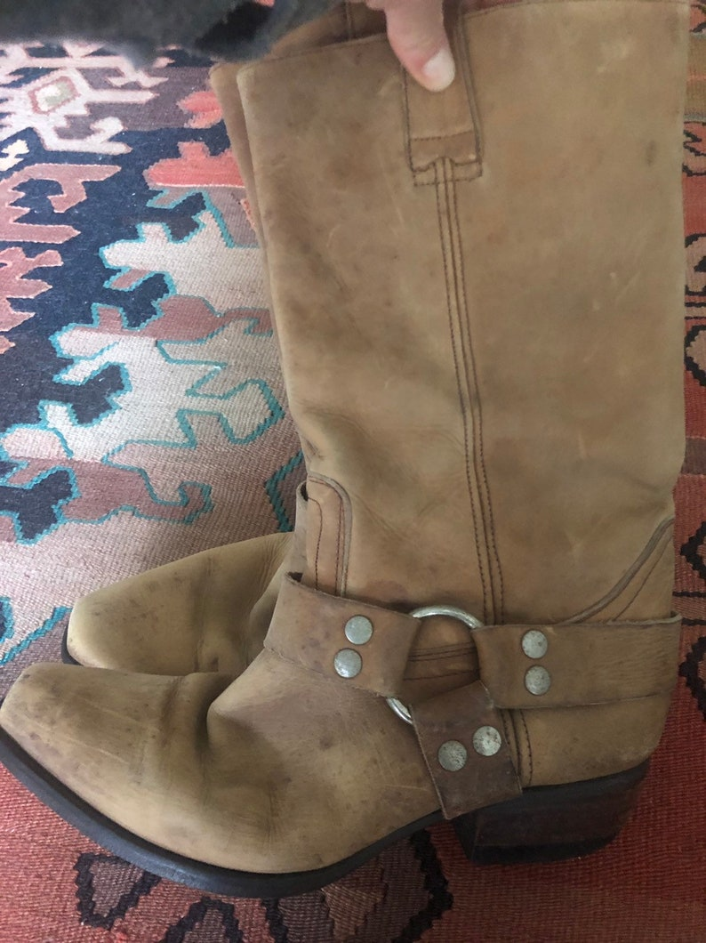 1accc4f007c Vintage 80s Guess cowboy harness boots
