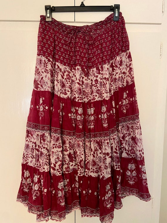 Vintage 70s Indian gauze skirt