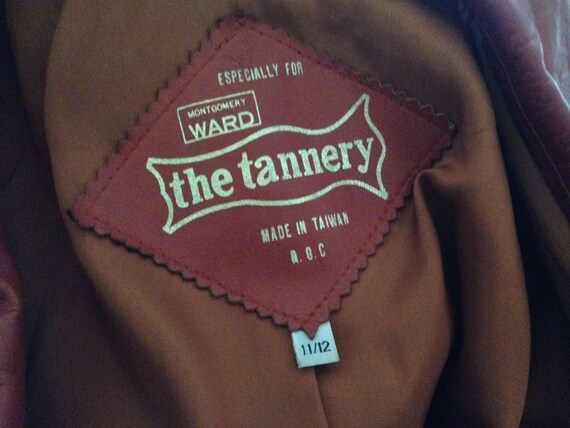 Quinn Vintage 70's leather blazer jacket brown ru… - image 5