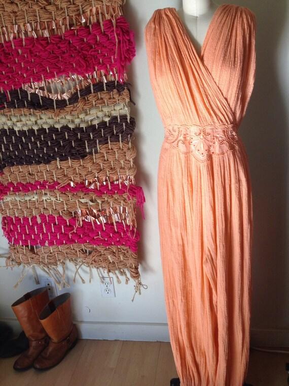 Nina vintage 70's gauze harem jumpsuit romper