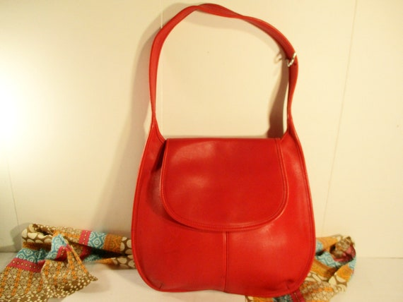 Red COACH Leather Purse, Red Leather Bag, United S