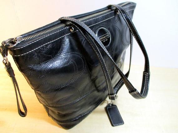 COACH bag, Coach Handbag, Black Leather Coach Purs