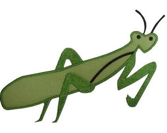 Praying Mantis 4x4, 5x7 machine embroidery applique design-  perfect for boys 13