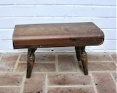 Antique Vintage Wooden Stool Antique Vintage Wood Stool Primitive Rustic Stool Farmhouse Find