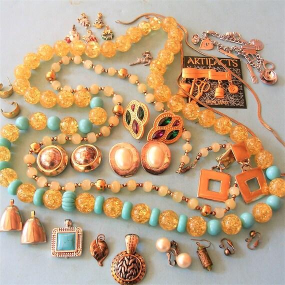 Vintage Jewelry Lot Steampunk Jewelry Diy Jewelry Vintage Etsy