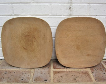 Vintage Wooden Plates  Wooden Platters Craft Supplies Art Plates