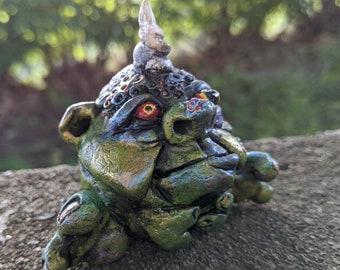 Cornelius the Horned Troll, Friendly Monster, Original Art Creature, fantasy figurine