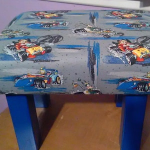 Mickey Mouse Handcrafted Accent FootstoolKid/'s Stool