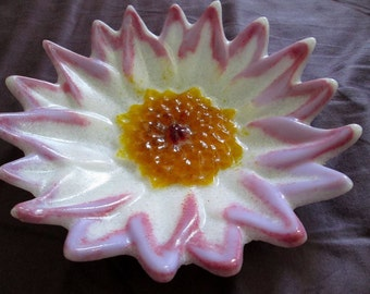 Cast Glass Floral Dish