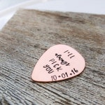 Men's Copper Anniversary Gift - I'll Always Pick You - copper guitar picks - personalized gift - 7 year anniversary gift - Gifts for Husband