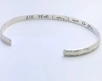 Mother of the Bride Gift - Mother of Bride Bracelet - Hidden Message Bracelet - All That I Am - Mom Gift from Daughter - Mother's Day Gift