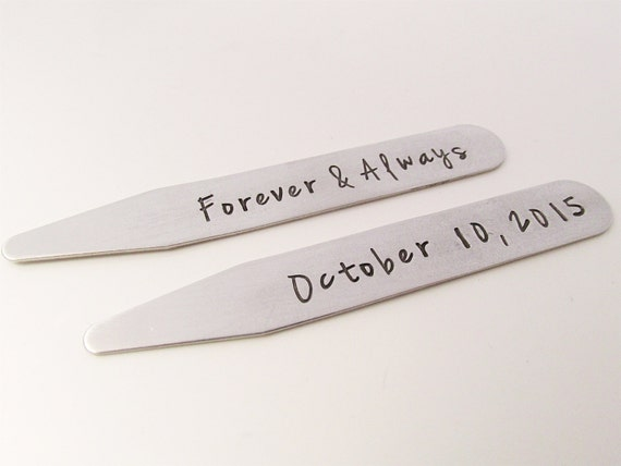 Personalized Collar Stays Groom Gift Stainless Steel Etsy