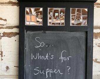 Last Supper Mosaic Menu Chalkboard