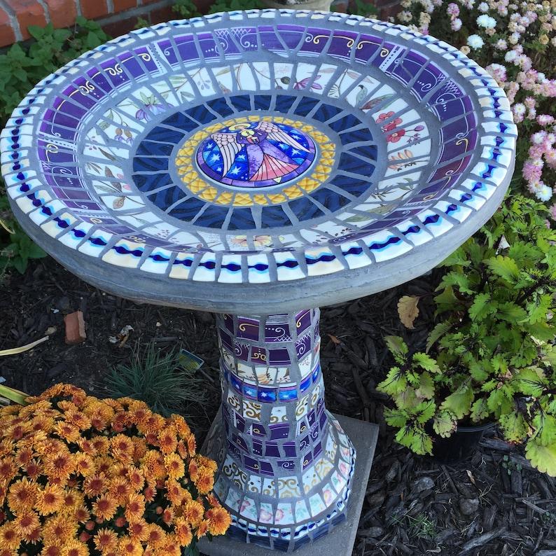 Mosaic Birdbath MADE TO ORDER