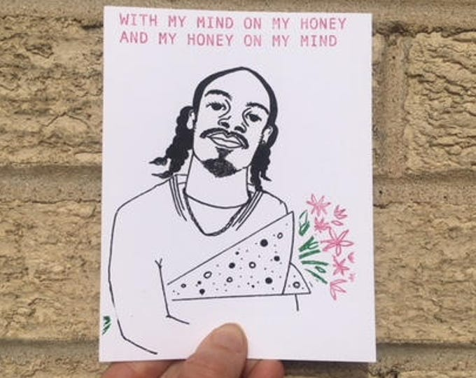 Funny Valentine Card - Snoop Dogg Inspired, Mind on My Honey,  Hip-Hop, Gin n Juice, Funny Anniversary Card, Funny Valentines Day