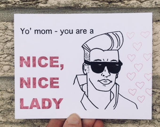Nice, Nice Lady - Mother's Day Card - Funny
