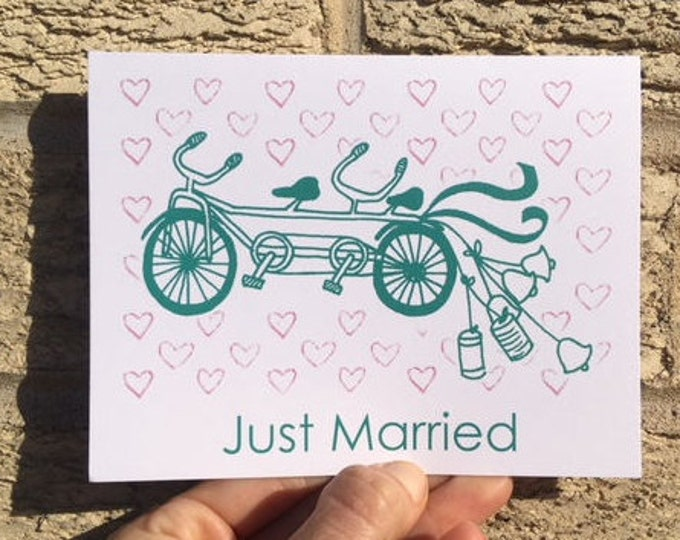 Gocco Bike Wedding Card - Tandem Bicycle Built for Two from PaperMichelle