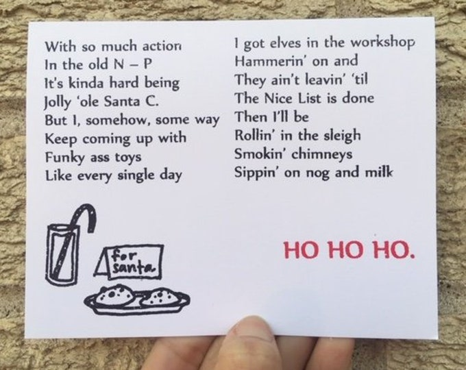 Hip-Hop Christmas Card, Gin 'n Juice Themed, Funny Christmas Card