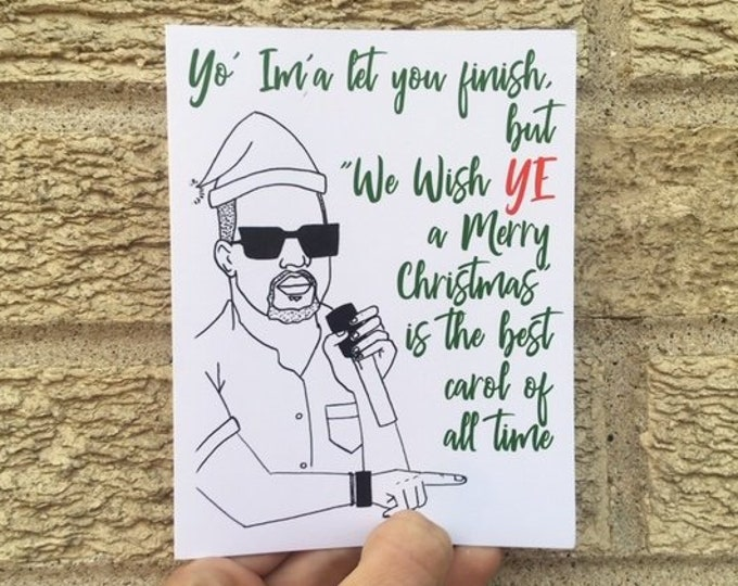 Hip-Hop Christmas Card, Funny Christmas Card, Kanye West Inspired, YEEZY Inspired