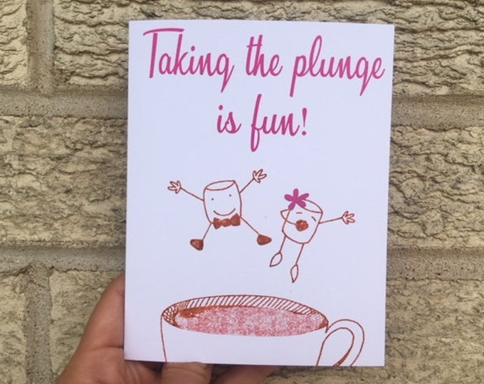 Funny Wedding Card - Taking the Plunge, Wedding Card, Wedding Shower Gift, Bridal Shower, Funny Wedding Gift, Cute Wedding Card, Anniversary