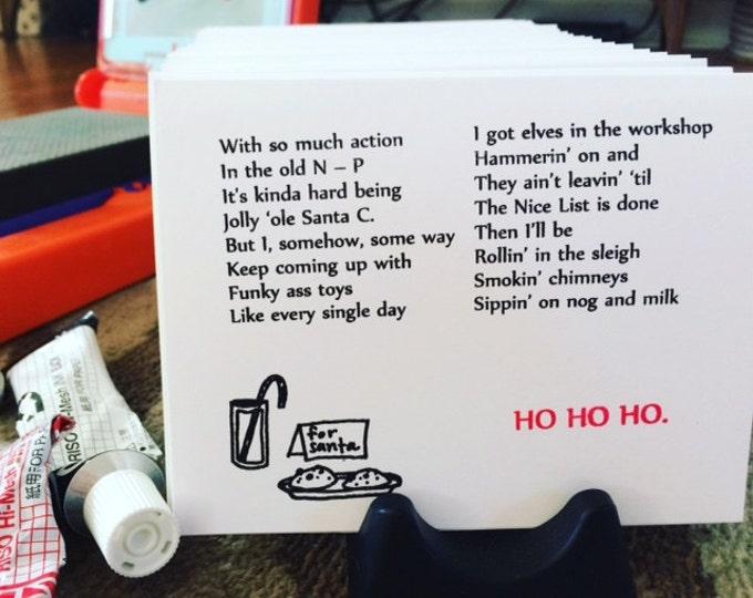 Hip-Hop Christmas Card, Gin 'n Juice Themed, Funny Christmas Card