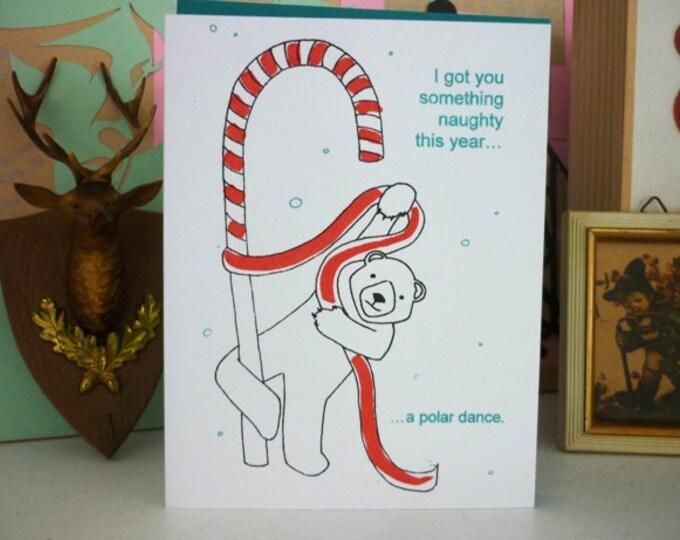 Funny Christmas Card - Gocco - Polar Bear Dance