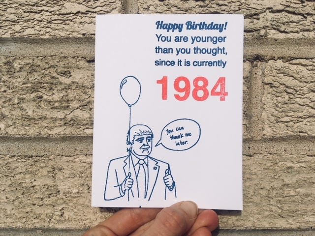 Donald Trump Card For Democrats Liberal Birthday Funny Gallery Photo