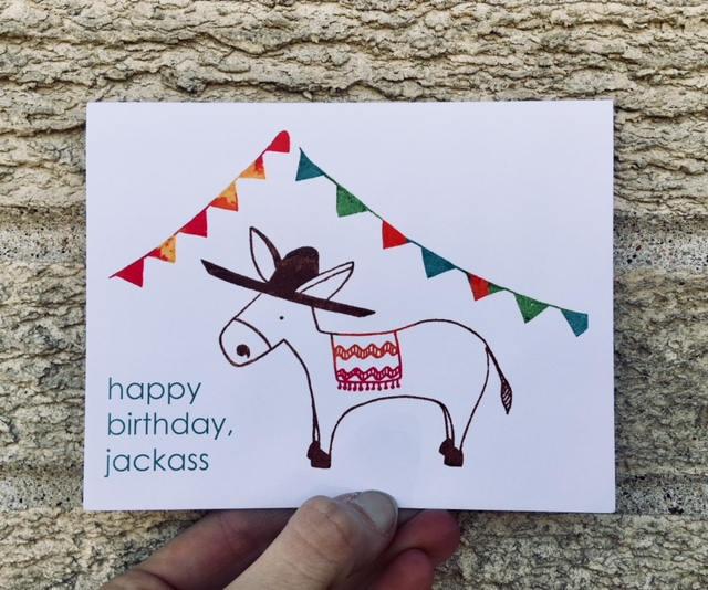 Funny Birthday Card Happy Birthday Jackass Card For Brother Card