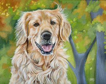 Custom Portrait, Custom Dog Painting, size 8 x 10