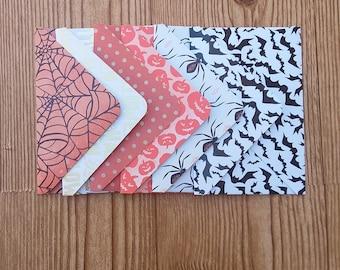 halloween envelopes - set of 6