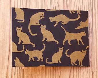 4x6 mini photo album - gold cats