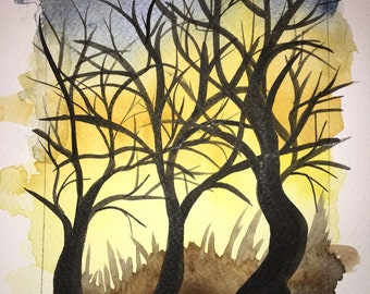 Another Sunset - Original Watercolor Painting
