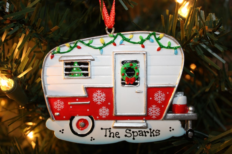 Christmas Camper Personalized Ornament