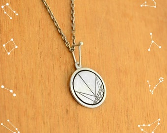 Birth Chart Zodiac Necklace Sterling Silver, Star Sign Geometric Necklace, Astrology Jewelry, Celestial Necklace, Pendant, Baby Birth Gift