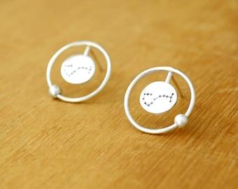 Astral return earrings - Sterling Silver - Zodiac