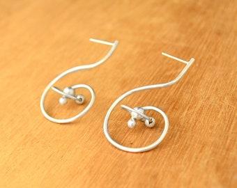 Orbit earrings - Sterling Silver - Galaxy abstract earrings Astronomy Celestial jewelry -Dangling earrings Astrology milky way